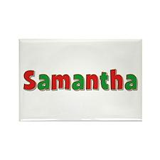 Samantha Christmas Rectangle Magnet
