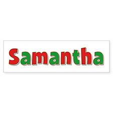 Samantha Christmas Bumper Bumper Sticker
