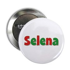 Selena Christmas Button