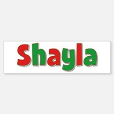 Shayla Christmas Bumper Bumper Bumper Sticker