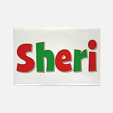 Sheri Christmas Rectangle Magnet
