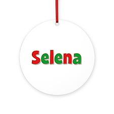 Selena Christmas Round Ornament