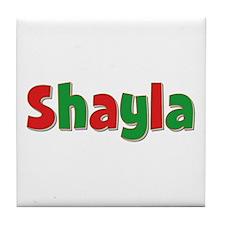 Shayla Christmas Tile Coaster