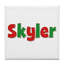 Skyler Christmas Tile Coaster