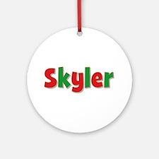 Skyler Christmas Round Ornament