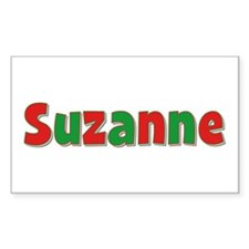 Suzanne Christmas Rectangle Decal