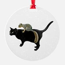 Squirrel on Cat Ornament