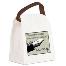 Anonymous Was a Woman Canvas Lunch Bag