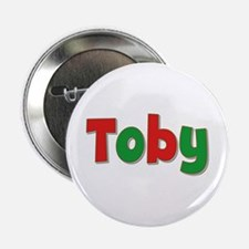 Toby Christmas Button