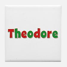 Theodore Christmas Tile Coaster