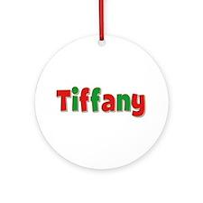 Tiffany Christmas Round Ornament