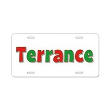 Terrance Christmas Aluminum License Plate