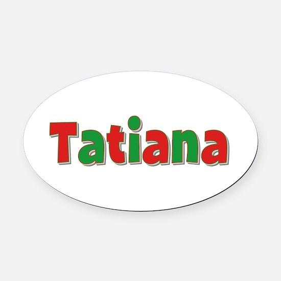 Tatiana Christmas Oval Car Magnet