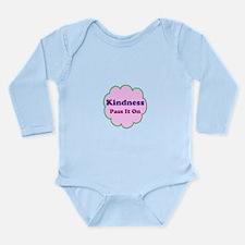 Pink Kindness Pass It On Long Sleeve Infant Bodysu