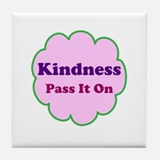 Pink Kindness Pass It On Tile Coaster