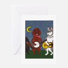 Country Music Dogs Greeting Card