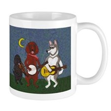Country Music Dogs Small Mugs