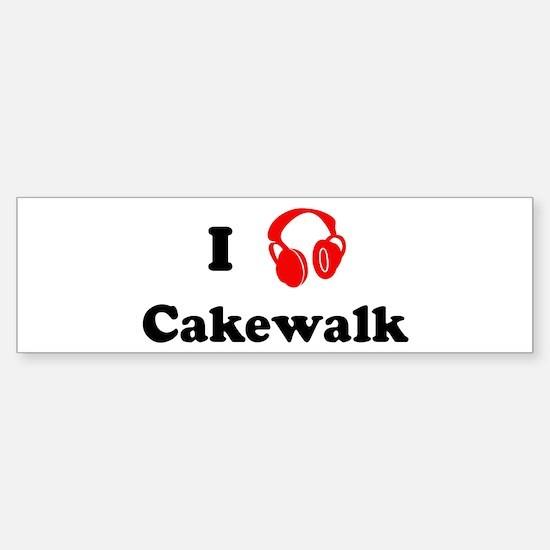 Cakewalk music Bumper Car Car Sticker