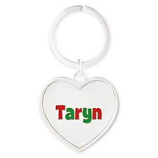 Taryn Christmas Heart Keychain
