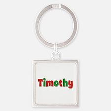 Timothy Christmas Square Keychain