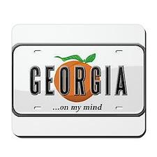 Georgia Plate Mousepad