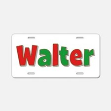 Walter Christmas Aluminum License Plate