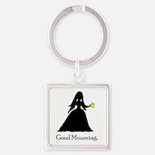 GoodMourning1 Square Keychain