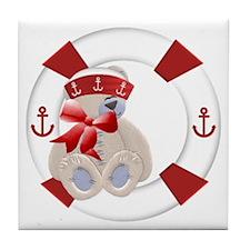 Sailor Bear Tile Coaster