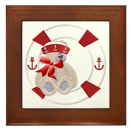 Sailor Bear Framed Tile