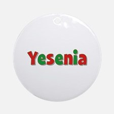 Yesenia Christmas Round Ornament