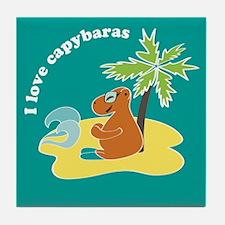 Capybara Tile Coaster