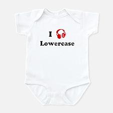 Lowercase music Infant Bodysuit