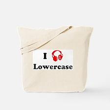 Lowercase music Tote Bag