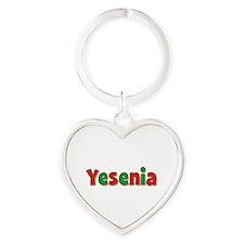Yesenia Christmas Heart Keychain