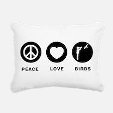Bird Watching Rectangular Canvas Pillow