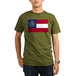 Flag of Georgia Organic Men's T-Shirt (dark)