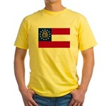 Flag of Georgia Yellow T-Shirt