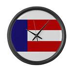 Flag of Georgia 1879-1902 Large Wall Clock