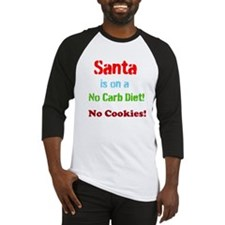 Santa on No Carb Diet Baseball Jersey