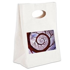 Twisted Branch Canvas Lunch Tote