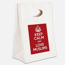 keep calm and love Muslims Canvas Lunch Tote
