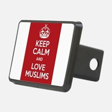 keep calm and love Muslims Hitch Cover