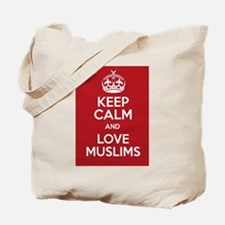 keep calm and love Muslims Tote Bag