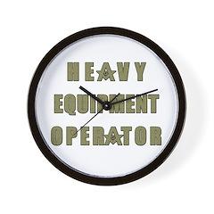 Equipment operator Masons Wall Clock