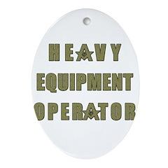 Equipment operator Masons Ornament (Oval)