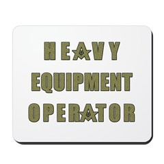 Equipment operator Masons Mousepad