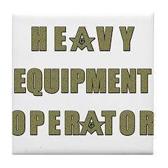 Equipment operator Masons Tile Coaster