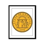Great Seal of Georgia Framed Panel Print
