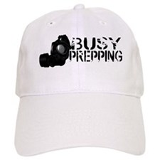 Busy Prepping Gas Mask Baseball Baseball Cap