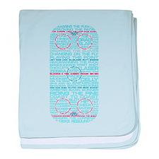 Hockey Rink Typography Design baby blanket